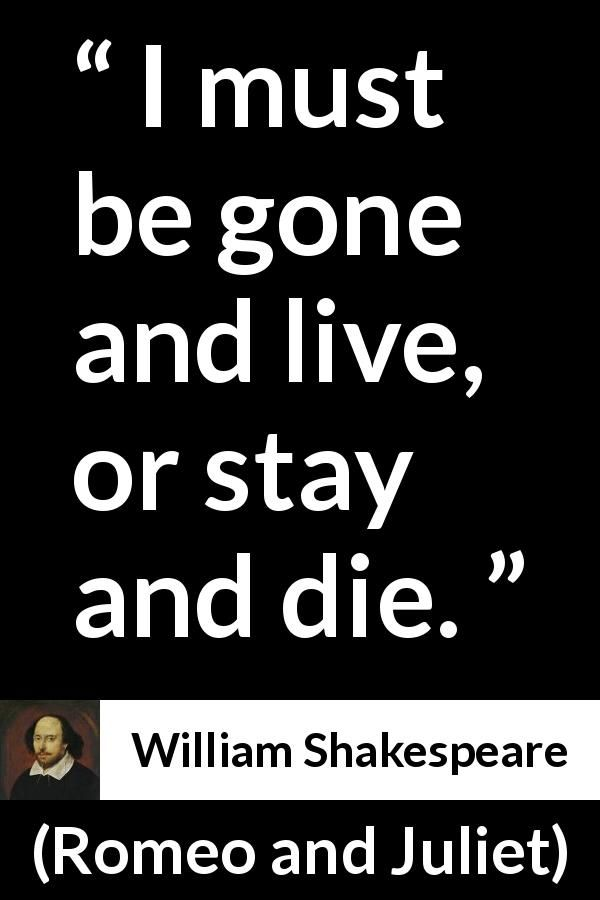 Romeo And Juliet Quotes And Meanings William Shakespeare Quote About Dilemma From Romeo And Juliet 1597 .