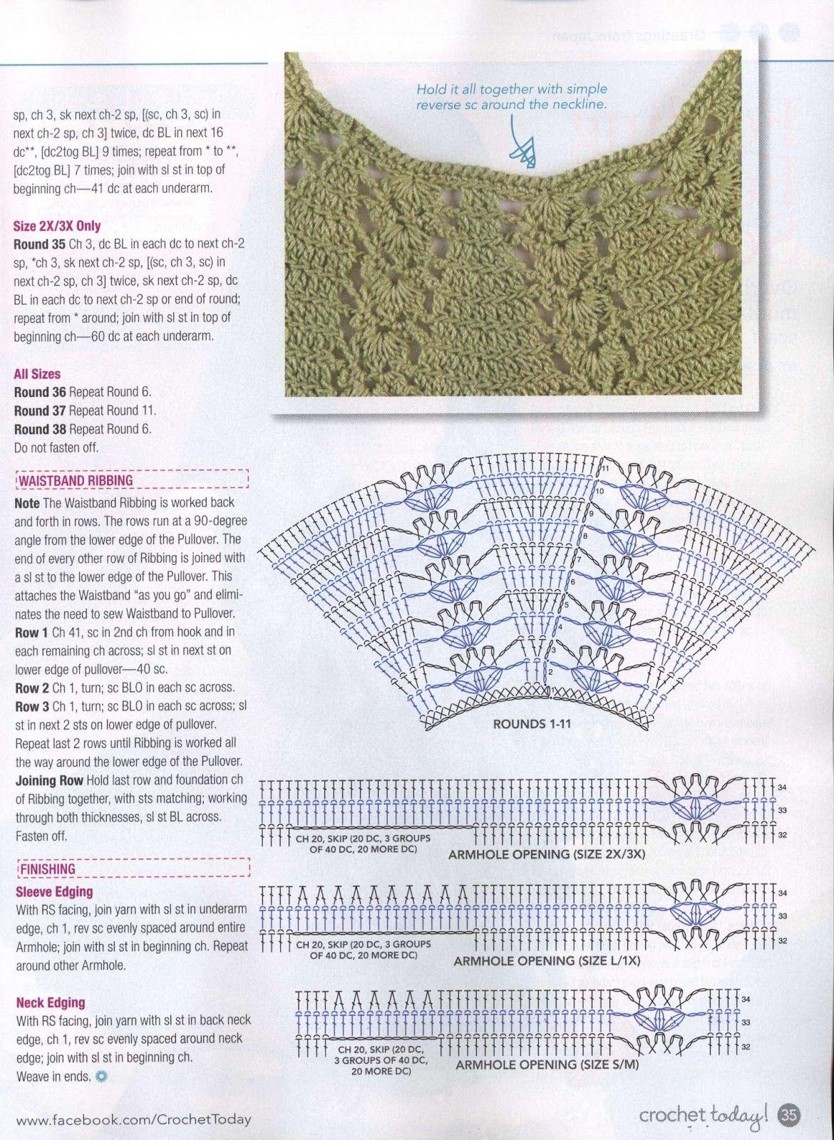 Blusa Verde de Crochet | Crochet Top 1 | Pinterest | Blusas, Blusas ...