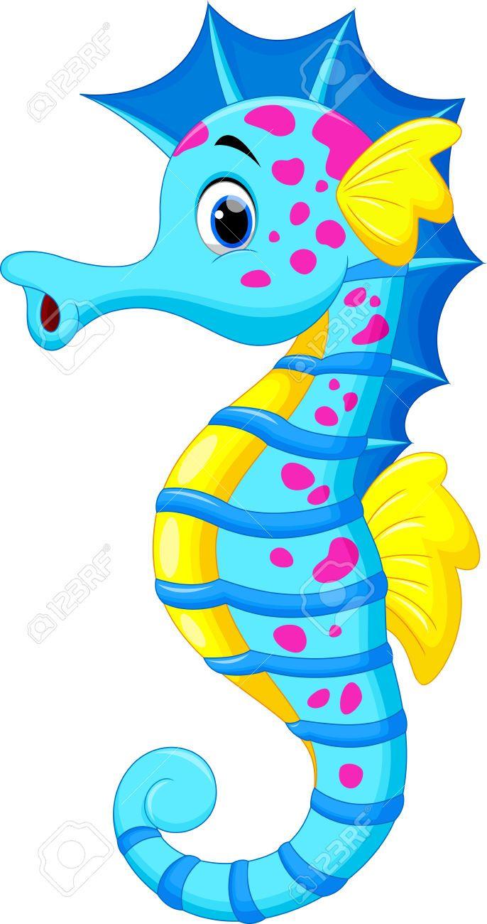 seahorse cartoon seahorse art seahorses sea creatures marina beach clipart  [ 686 x 1300 Pixel ]