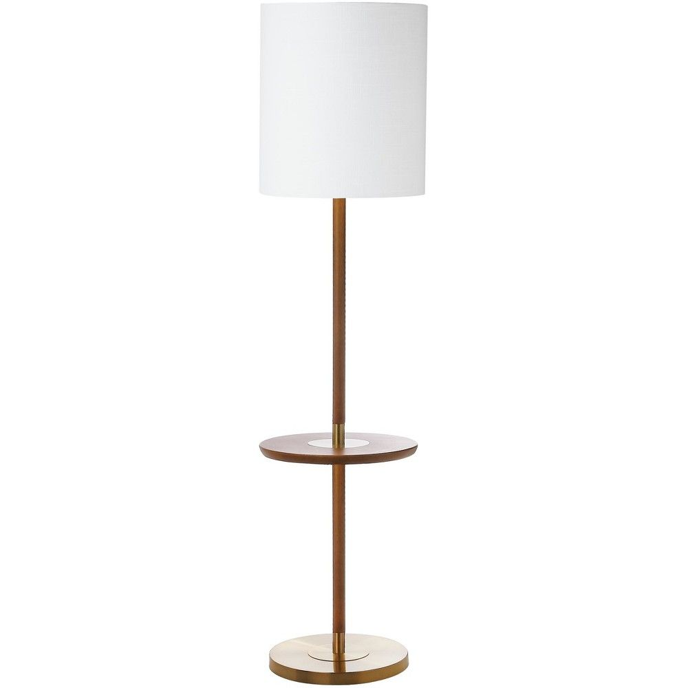 Janell 65inch H End Table Floor Lamp Brown Includes Energy