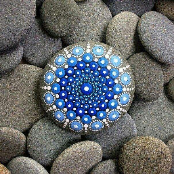 Blue  paint rock