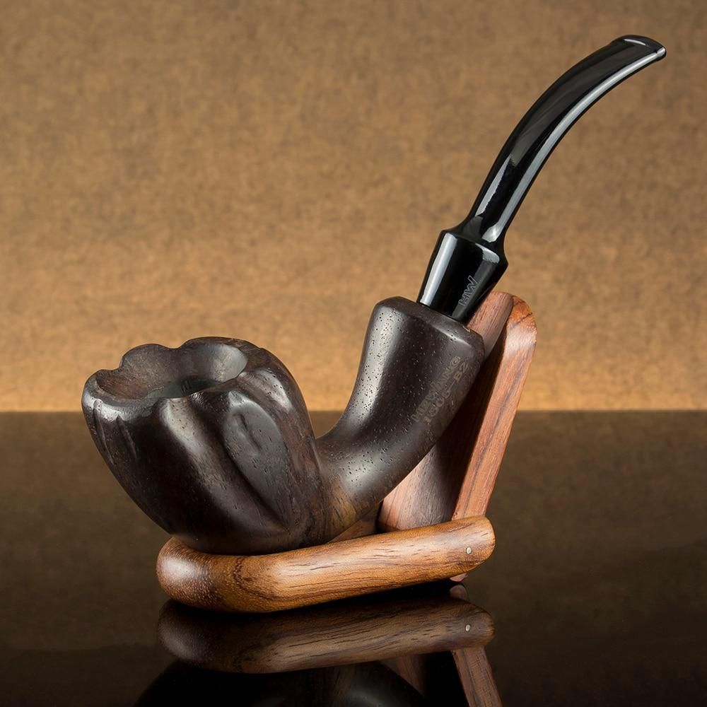 Smoking Pipe Best Ebony Wood 9mm Filter Chinese Style Tobacco 10 Tools Handmade