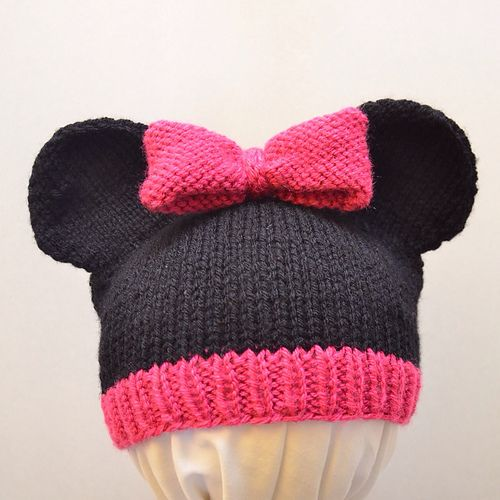 Mickey And Minnie Mouse Knit Hat Pattern By Cynthia Diosdado
