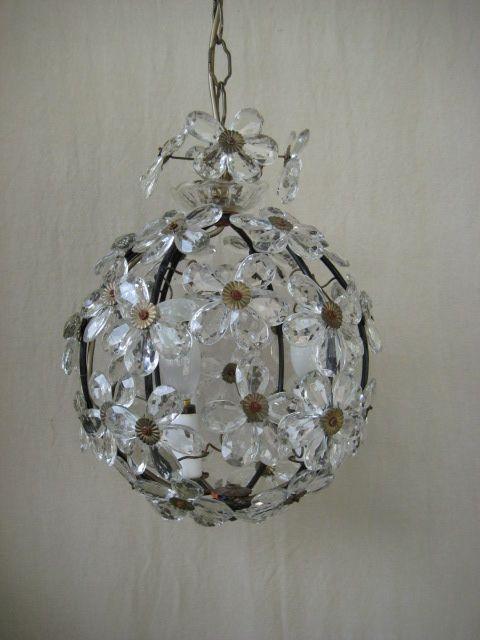 Italian Crystal Flower Chandelier