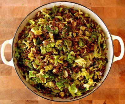 HEALTHY GETS HEARTY - RYE BERRIES WITH CABBAGE, WALNUTS & TOASTED CARAWAY - Wellsphere