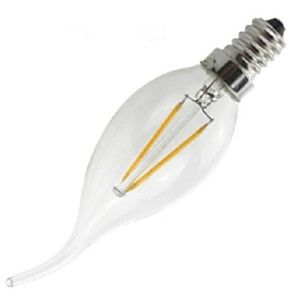 ON E14 2 W 2 COB 200 LM Warm White CA Dimmable/Decorative LED Filament Lamps AC 220-240 V