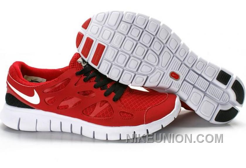 finest selection 541c9 78e76 Nike Free Run+ 2 Womens Running Shoes Red Black