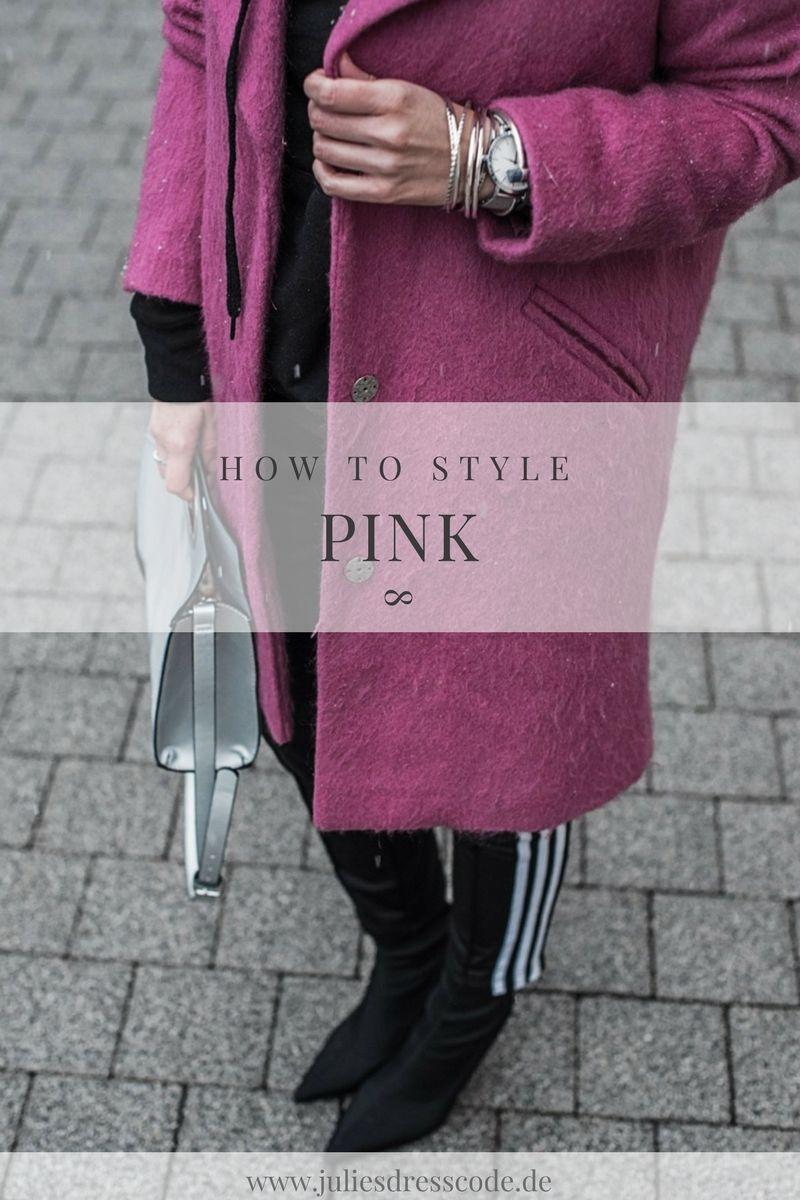 Pink als Eyecatcher Outfit mit Adidas Pants und Reserved