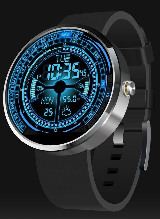 V02 Watchface For Moto 360 Screenshot Reloj De Pulsera Hombre Reloj Reloj Tactico