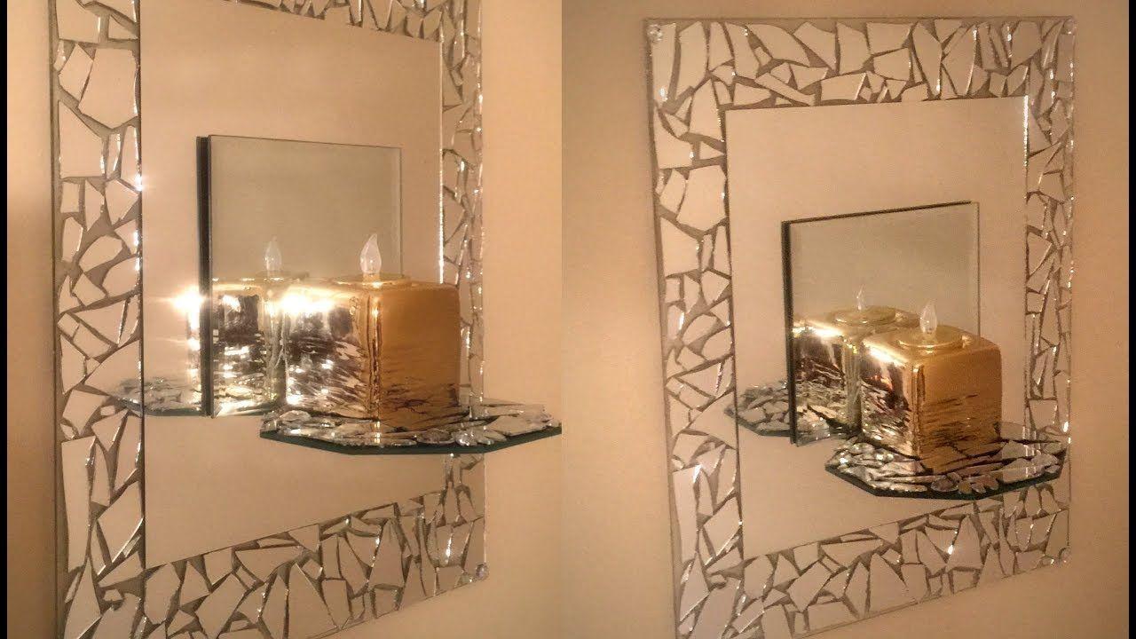 Dollar Treee Diy 💕mosaic Mirrored Wall Sconce 💕 Dollar