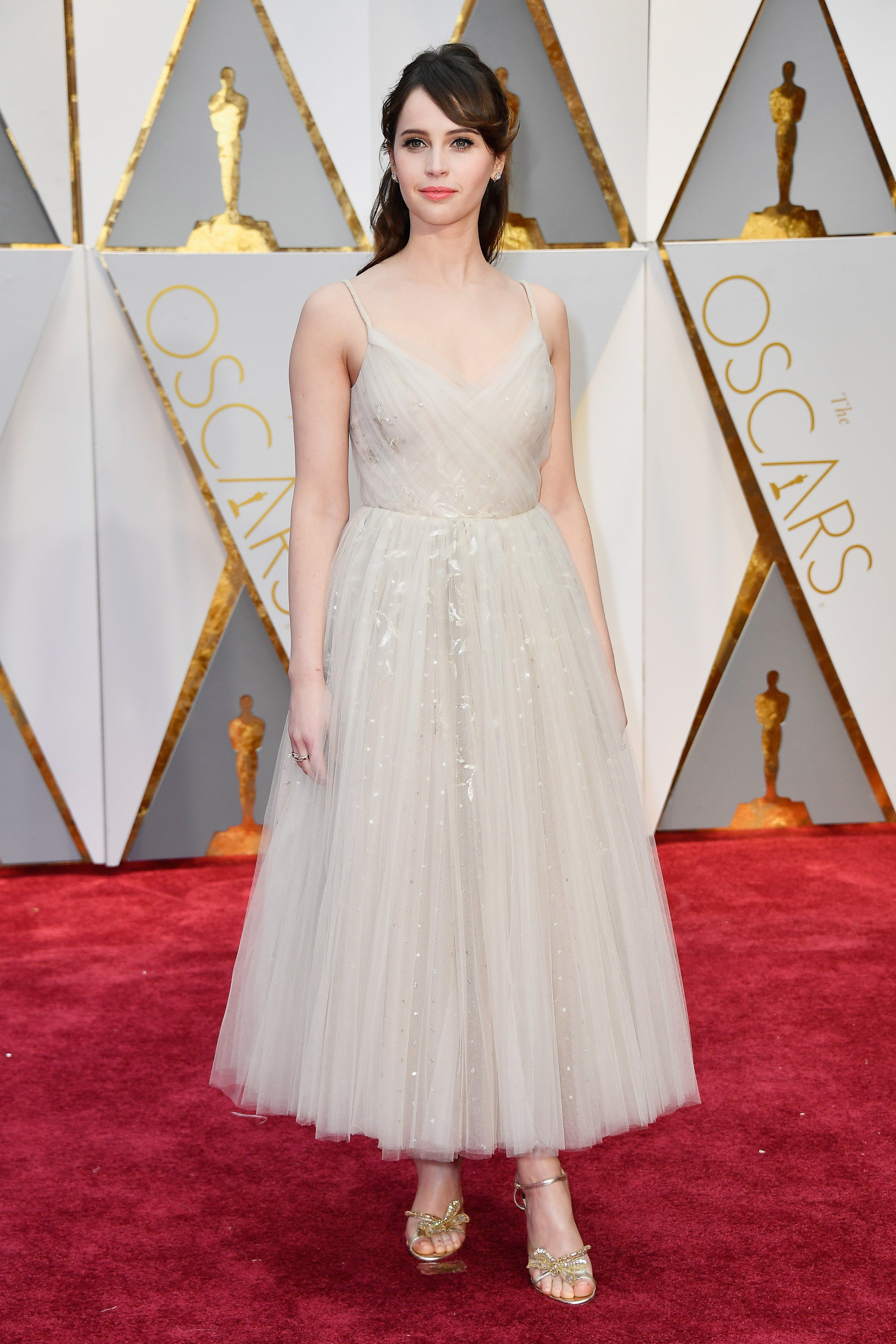 2017 Oscars - Felicity Jones in Christian Dior Couture
