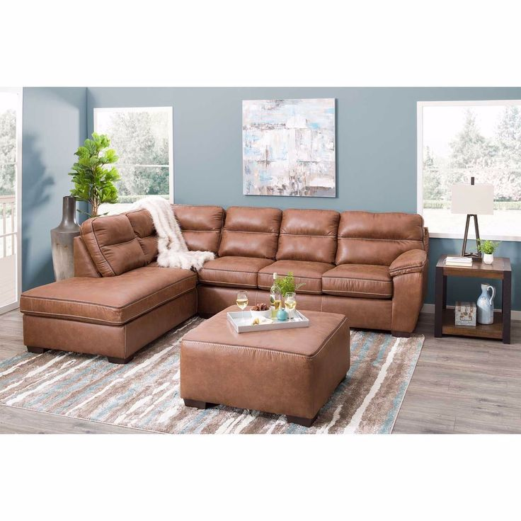 Leather sectional sofas farmhouse leather sectional