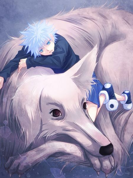 Killua and his dog Mike