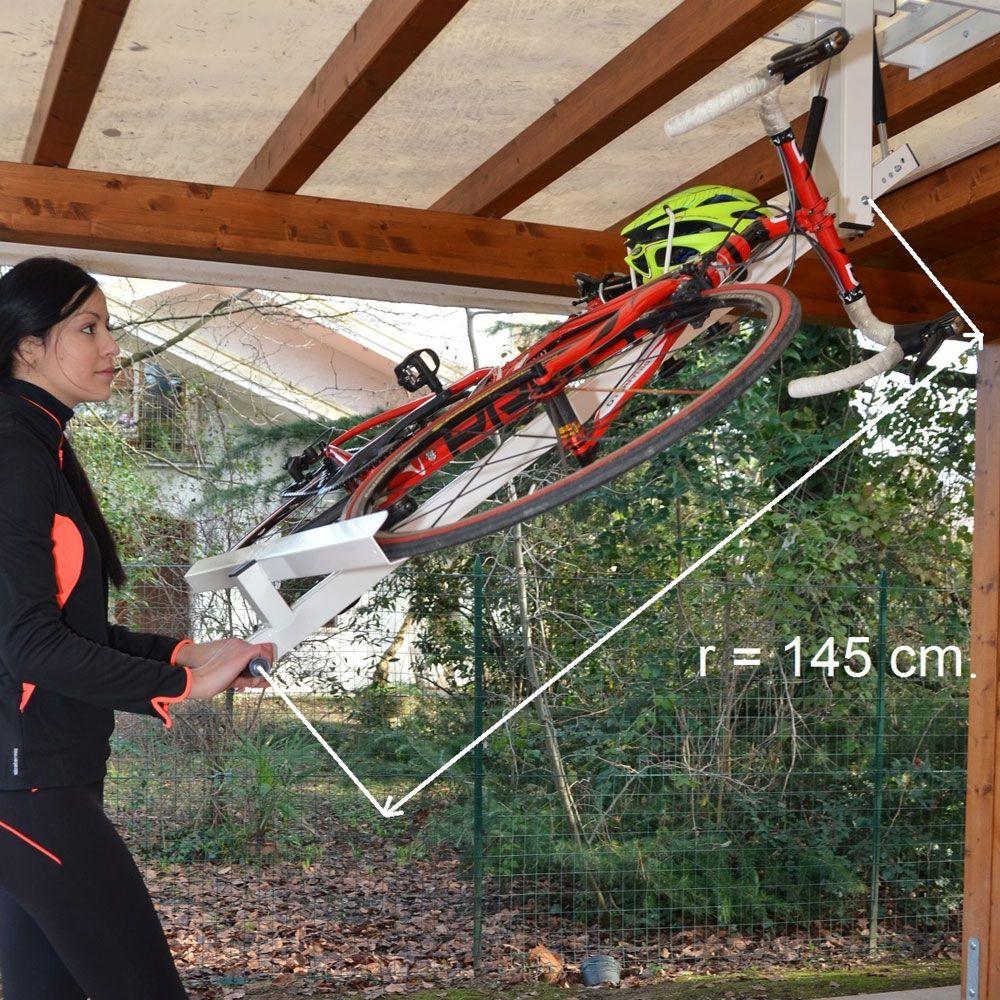 Flat Bike Lift Store your bike flat against the ceiling of
