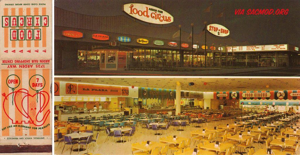 Sacramento Modern Arden Fair Mall S Food Circus Circa 1960 Ephemera Atomicpear