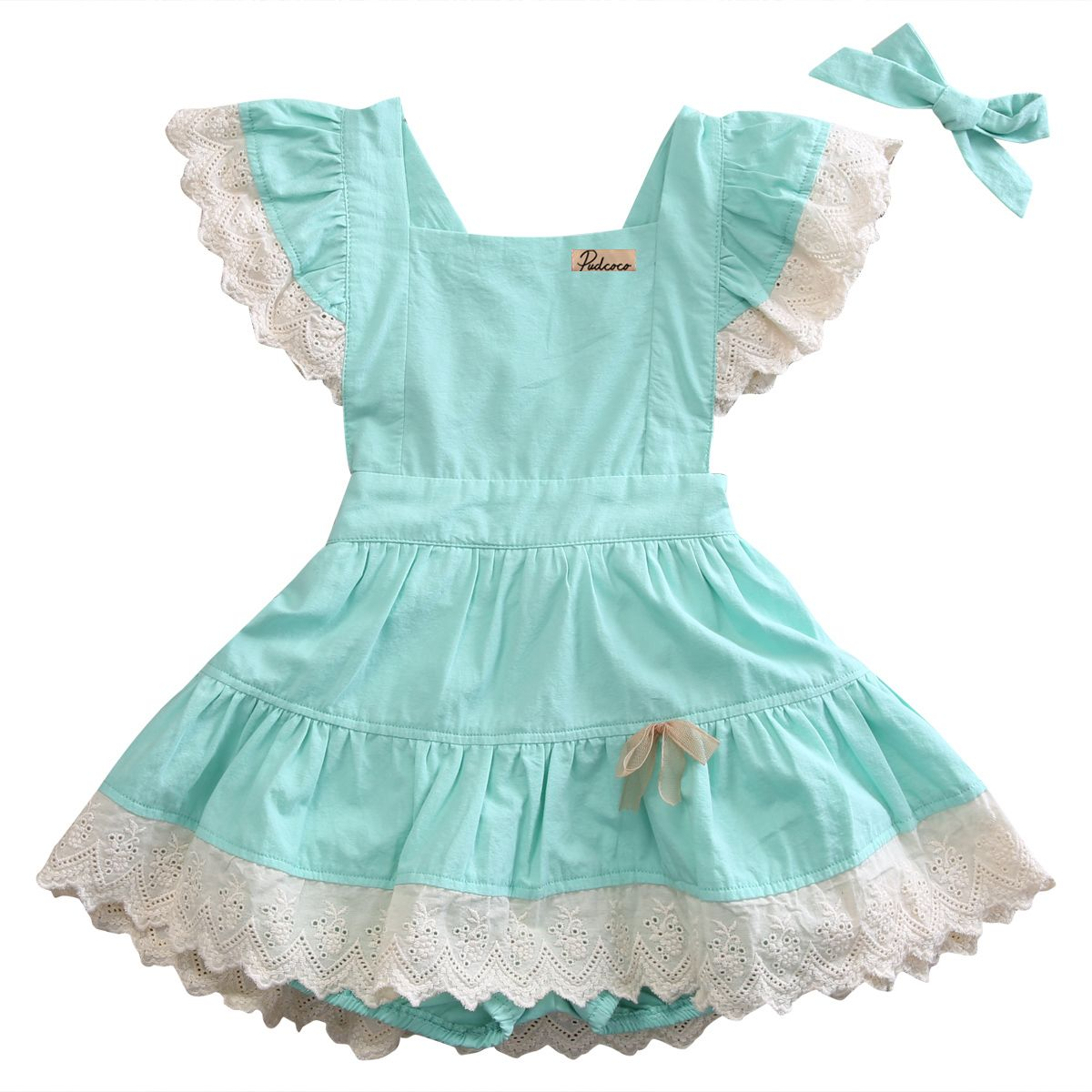 Green dress baby images  Click to Buy ucuc Y New PCS Toddler Kids Baby Girls Cotton Ruched