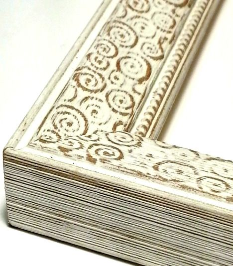 22.5 ft~Weathered White Picture Frame Moulding~Chalky White Washed ...