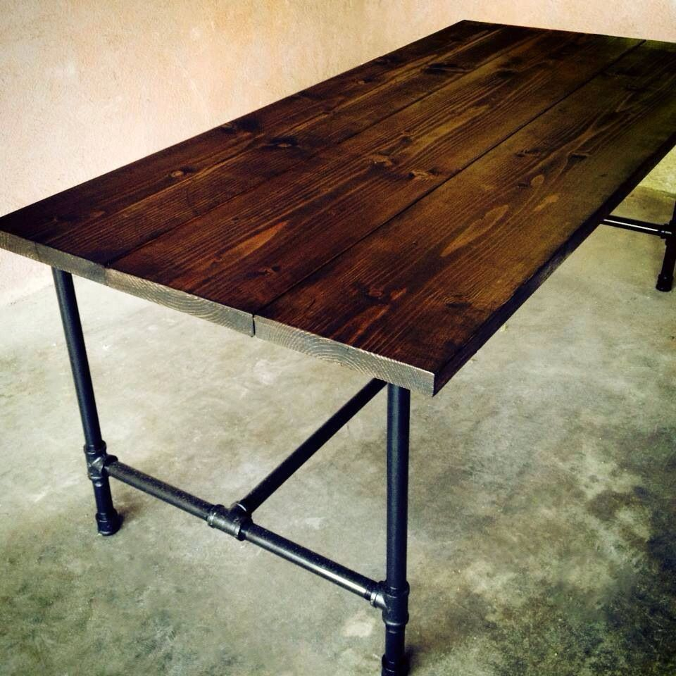 Reclaimed barn wood and pipe leg desk - @Mr Doxey is this what you ...