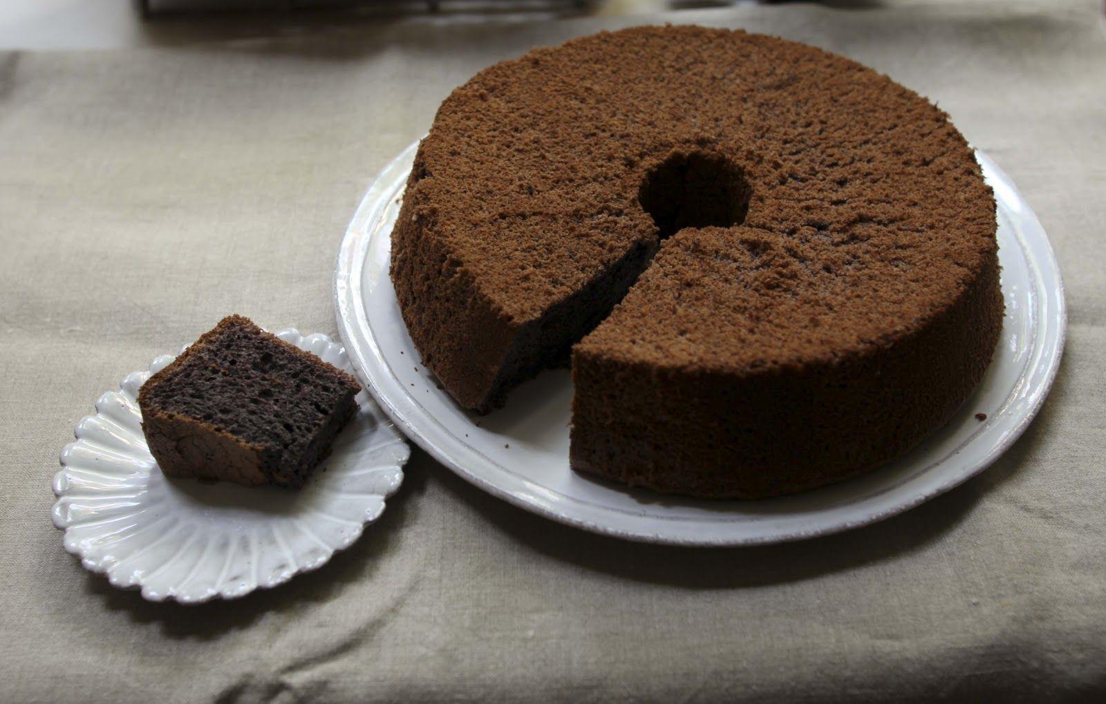 gluten free chiffon cake - black glutinous rice flour