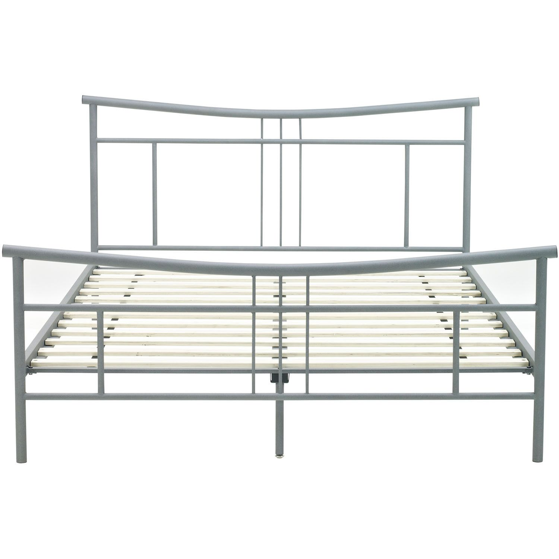 Hanover Chelsea Metal Full-sized Platform Bed Frame (Matte Nickel ...