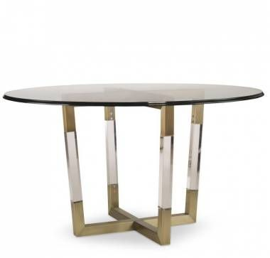 Acrylic And Brass Dining Table Glass Dining Table Dining Table