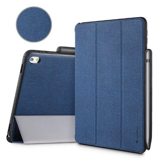 Ipad Pro 9.7 Case With Pencil Holder Ivapo Pencil Holder Flip Folio Case For Ipad Pro 97 Pu Amazonco
