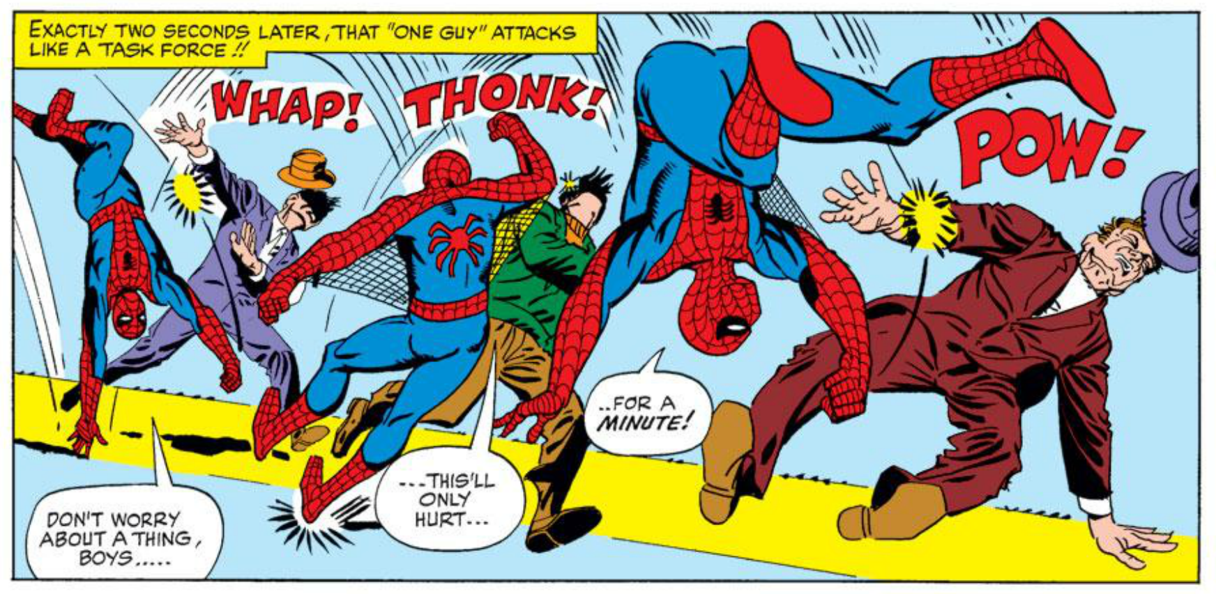 Ditko's talent for motion and action.