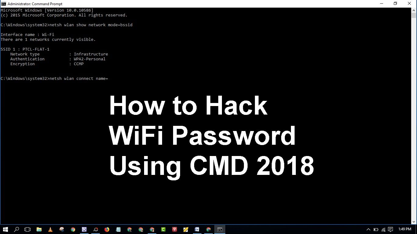 hack wifi password pc win 10