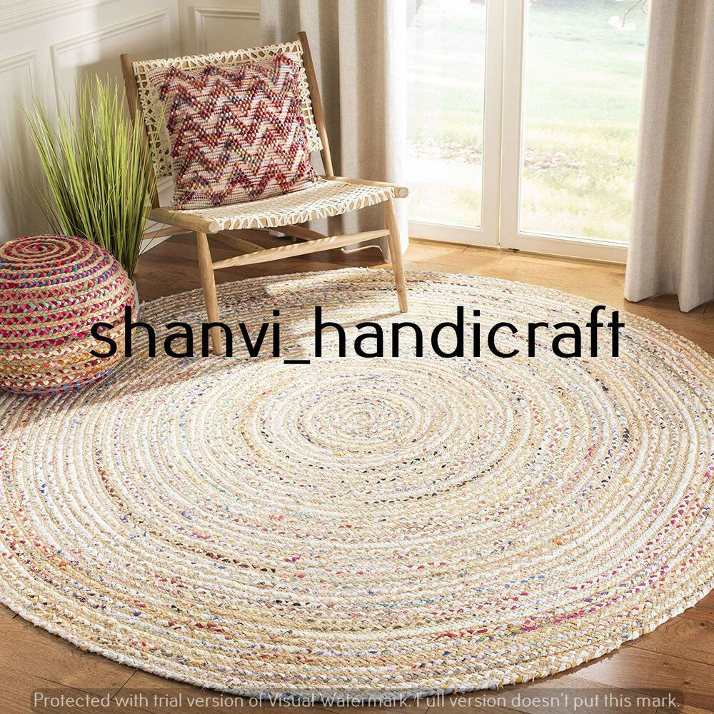 Braided Rugs Bohemian Natural Round