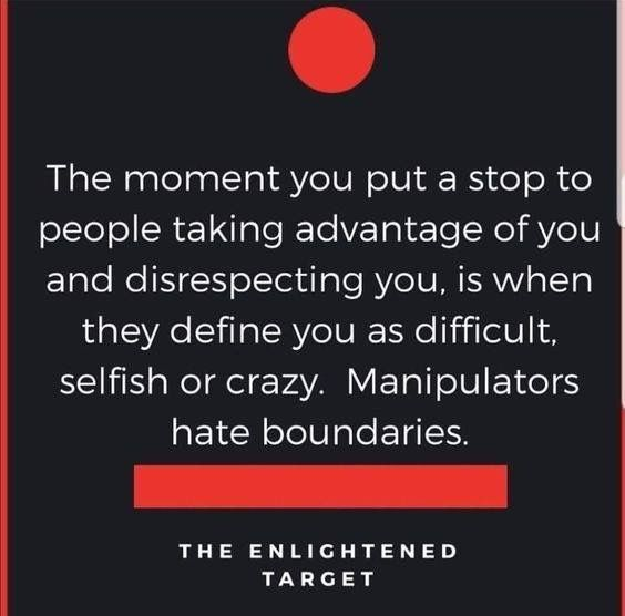 Boundaries make you crazy
