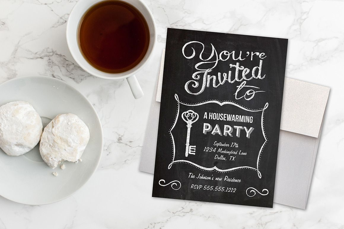 Digital printable housewarming invitation. Includes several file ...