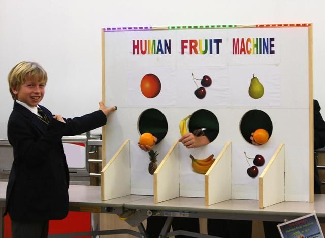 Human Fruit Machine  Always an easy fundraiser