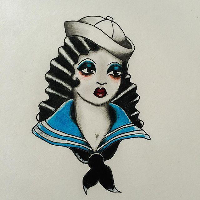 #traditionaltattoo #sailor #illustration #drawing #sketch