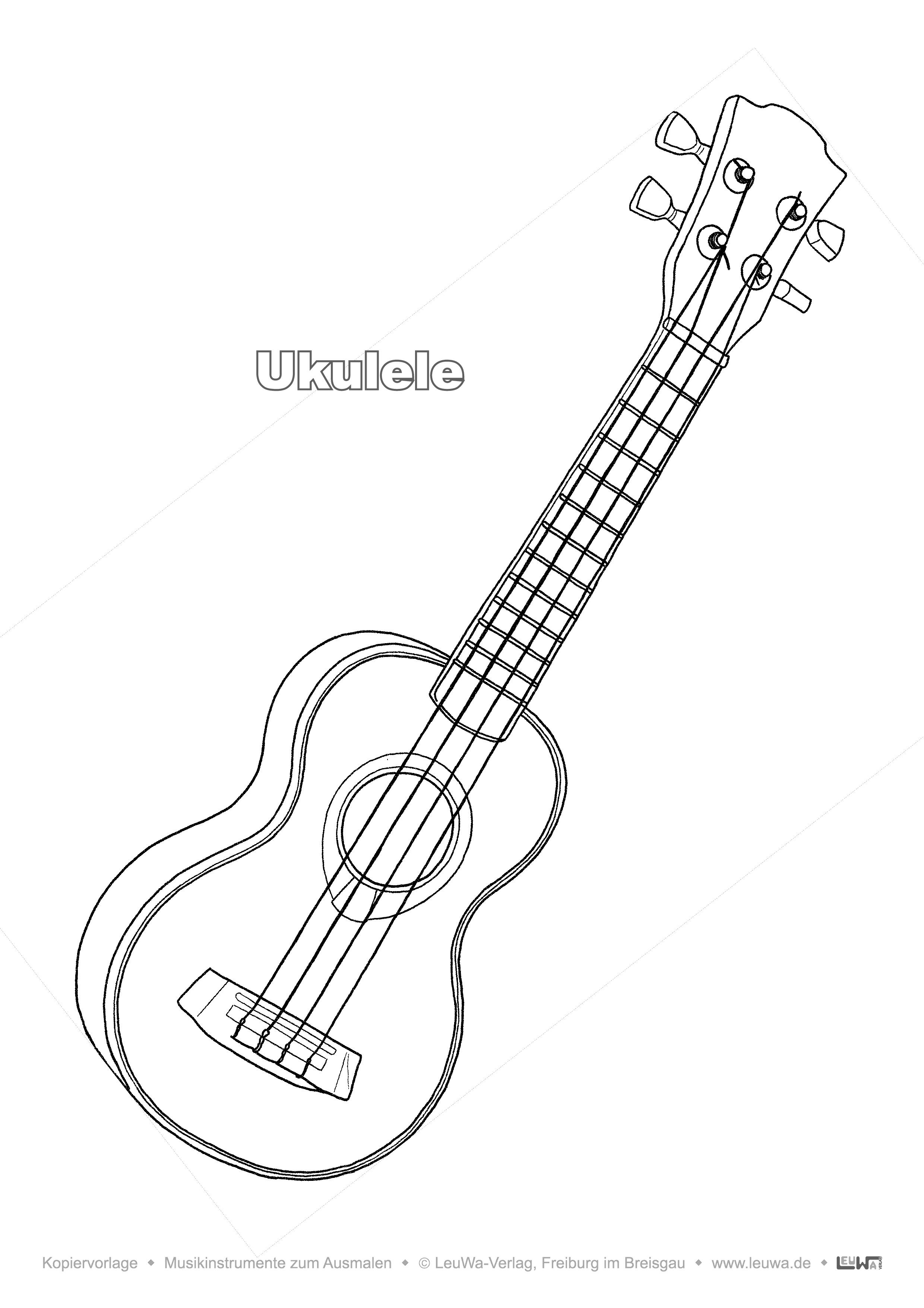 Musikinstrument Zum Ausmalen Ukulele Unterrichtsmaterial In Den Fachern Kunst Musik Kunst Grundschule Ausmalen Kunstunterricht Grundschule