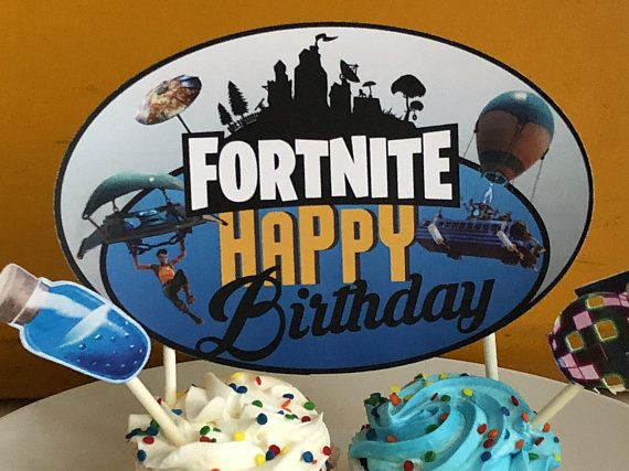 Top Off Your Fortnite Birthday Cake With This Easy To Print And Cut Out Topper Oval In Shape Makes For Cutting Digital File Immediate