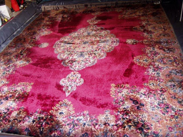 The end result is a beautiful clean rug #carpetrugcleaning #orientalrugcleaning #woolrugcleaning