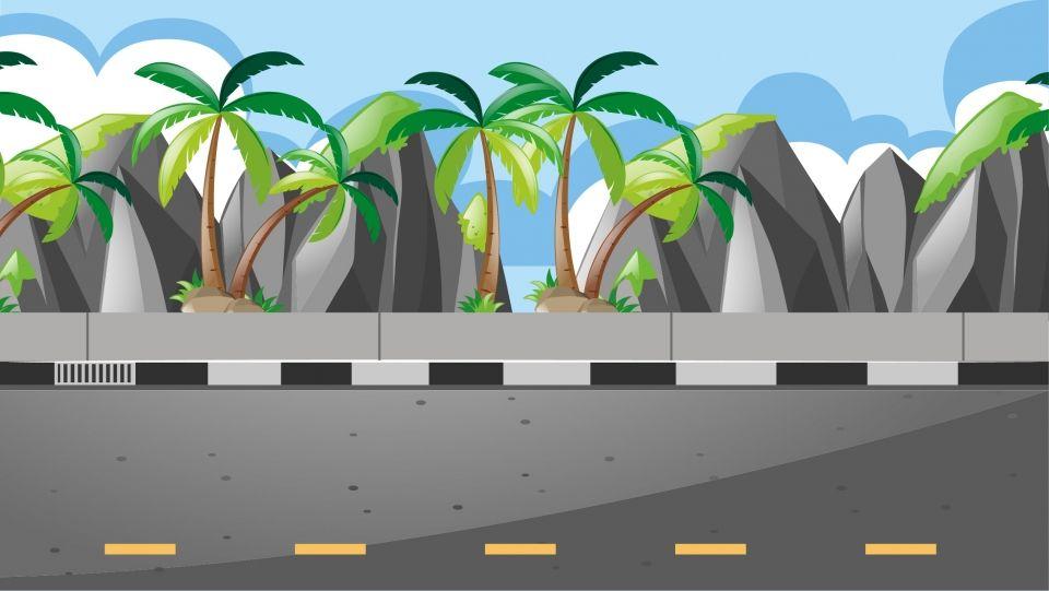 Reka Bentuk Latar Belakang Jalan Luar Kartun Segar Background Design Cartoon Background Background Design Vector