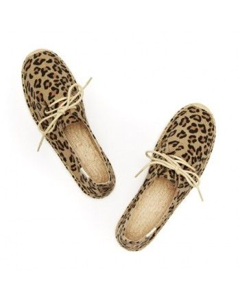 Animal Print - Leopard Tan Lace up Espadrilles for Women from Soludos - Soludos Espadrilles