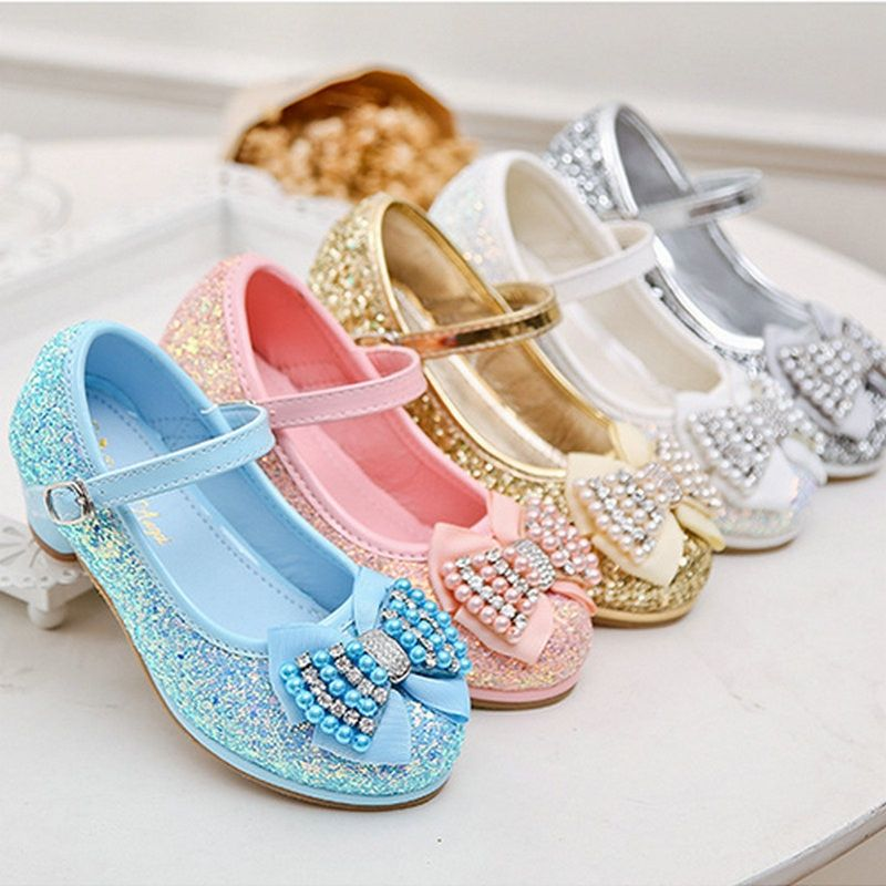 1f8e58558404d Fashion Butterfly Glittering leather princess shoes girls shoes ...