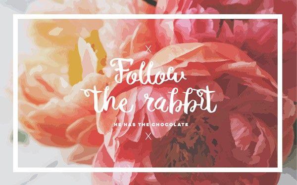 free spring wallpaper desktop floral quote rabbit easter ...