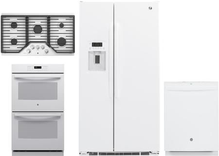 4 Piece Kitchen Appliances Package With Gzs22dgjww 36 Side By Side Refrigerator Jt3500dfww 30 Kitchen Appliance Packages White Kitchen Appliances Kitchen Appliances