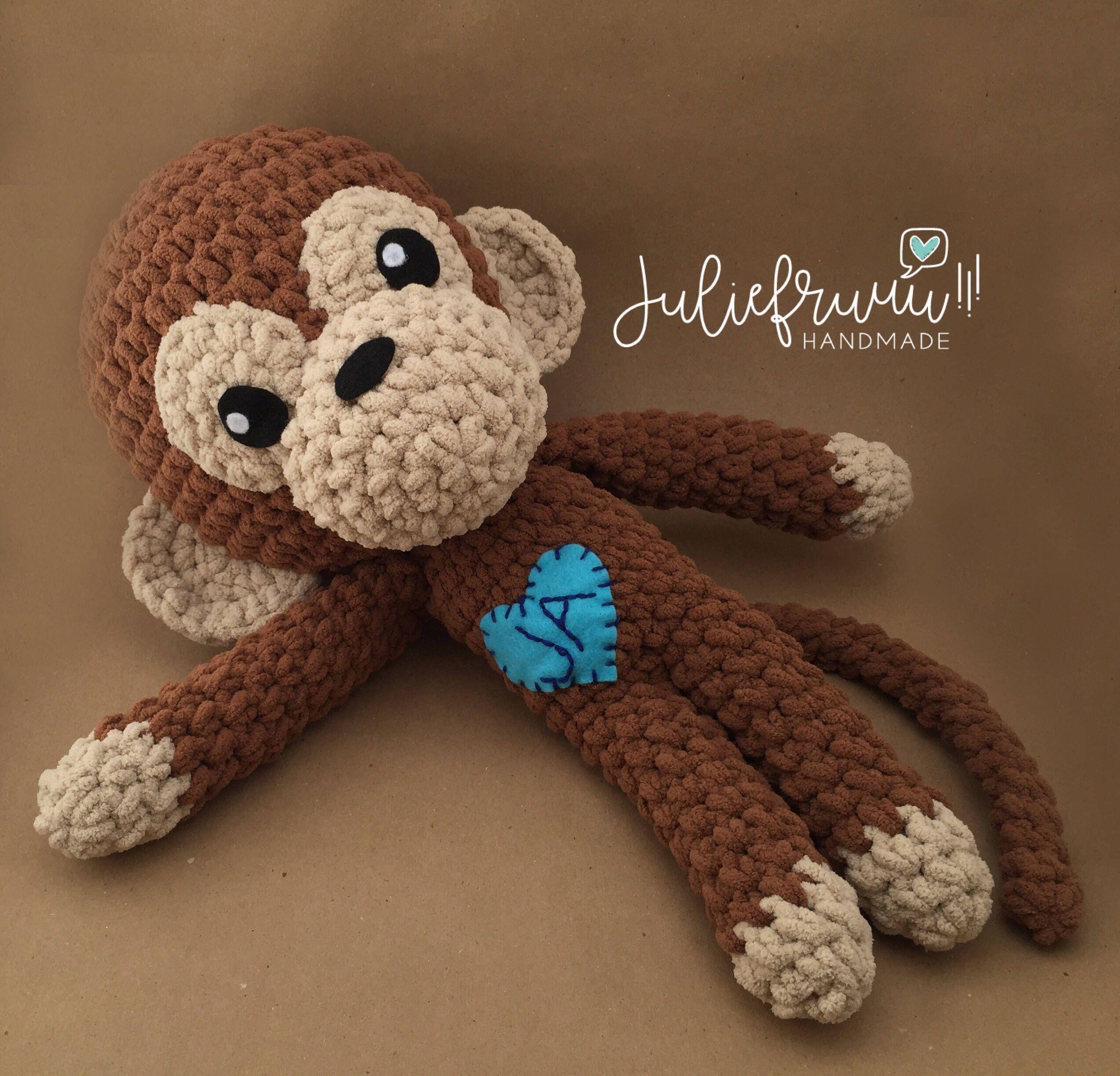 PATRÓN/PATTERN: Monkey Amigurumi, Mono Monito crochet English and ...