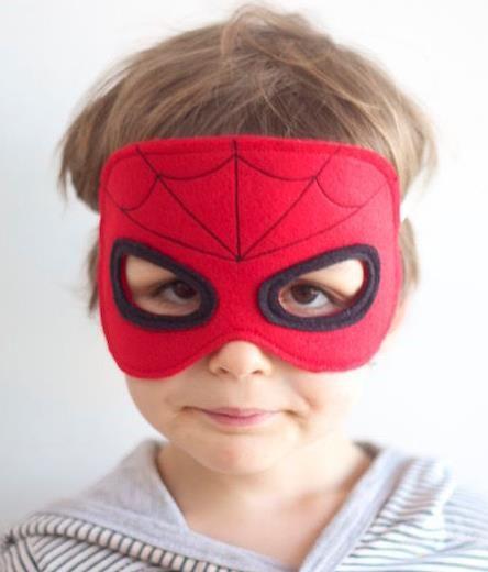 hero masks for kids sewing pattern in english via. Black Bedroom Furniture Sets. Home Design Ideas