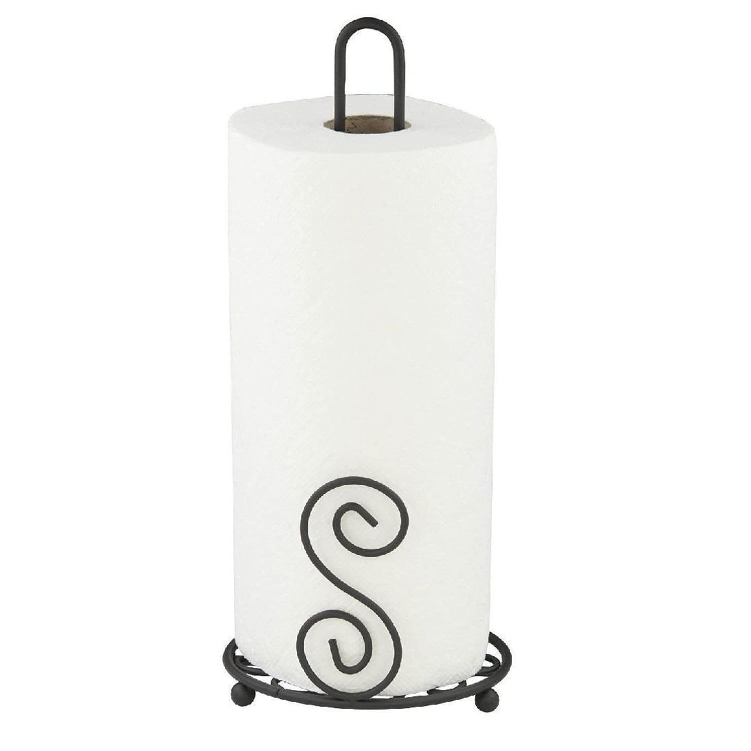 Sweet Home Collection Scroll Collection Black Paper Towel Holder 13 5 X6 X6 Towel Holder Sweet Home Collection Paper Towel Holder