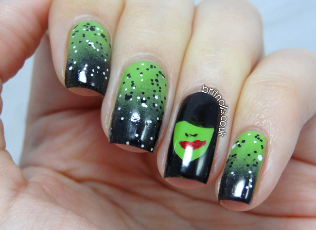 The wickedest witch there ever was brit nails gradient crazy nails prinsesfo Image collections