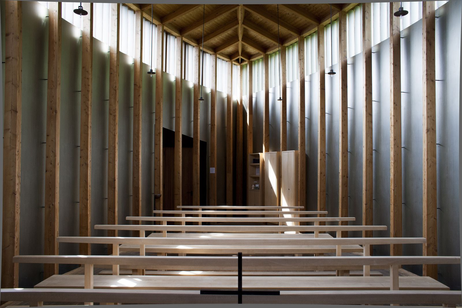 Saint Benedict Chapel. 1988. Peter Zumthor. Sumvitg, Graubünden, Switzerland // Photo: Alex Awramenko