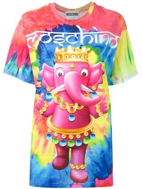 Women Tops & T Shirts Boutique Moschino Print T shirt