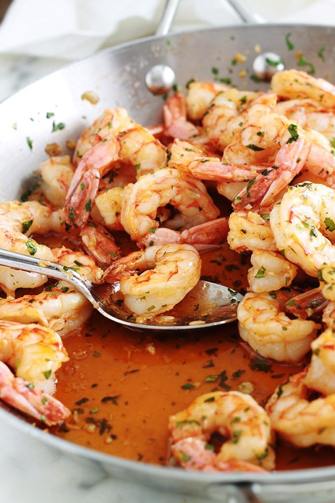Crevettes Sautées à L'ail Et Persil, Recette Rapide