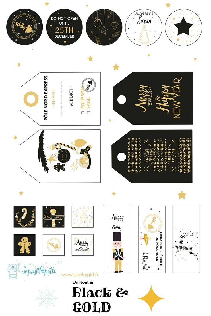 Des étiquettes de Noël à télécharger : Joyeux Noël - Alexandra MICHEL