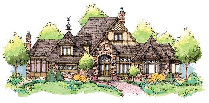 Eplans european tudor house plan graceful tudor estate home 3983 square feet and 4